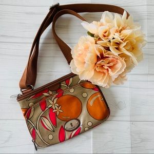 Fossil Key-Per Floral Printed Coated Canvas Purse